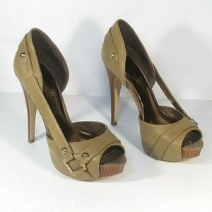 Guess By Marciano Open Toe D'Orsay Heels Size 6 M